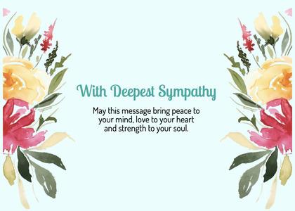 sympathy card 87 floraldesign graphics