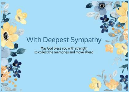 sympathy card 92 floraldesign graphics