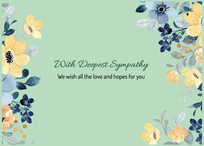 sympathy card 93 floraldesign graphics