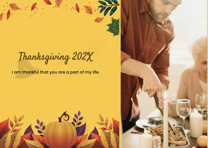 thanksgiving card 101 person human