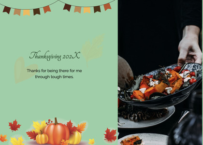 thanksgiving card 102 person human