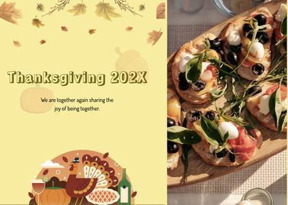 thanksgiving card 107 plant advertisement