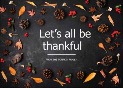thanksgiving card 11 rug plant