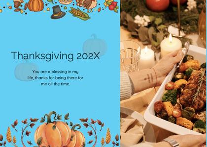 thanksgiving card 110 flyer advertisement