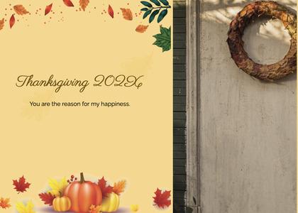 thanksgiving card 111 menu text