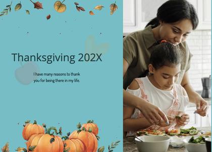 thanksgiving card 114 person human