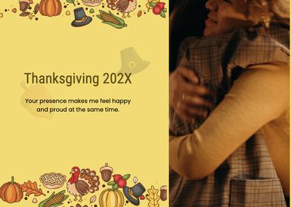 thanksgiving card 115 person human