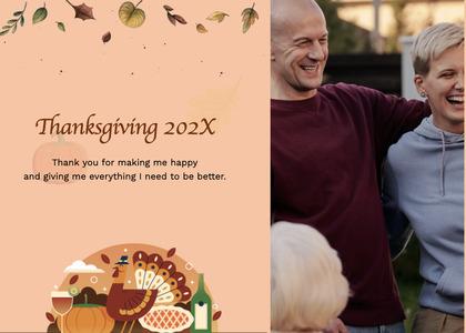 thanksgiving card 118 person human