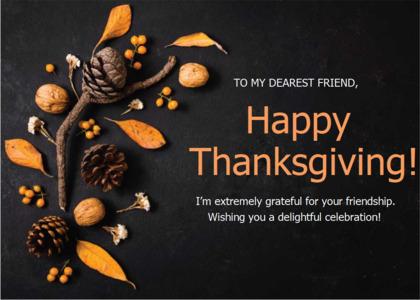 thanksgiving card 12 plant nut