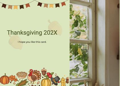 thanksgiving card 124 plant flyer