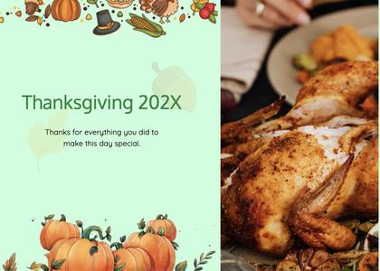 thanksgiving card 129 dinner food