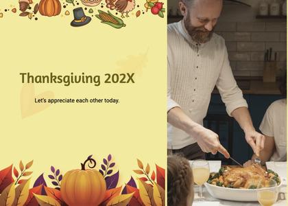thanksgiving card 135 person human