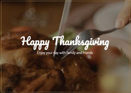thanksgiving card 138 person human