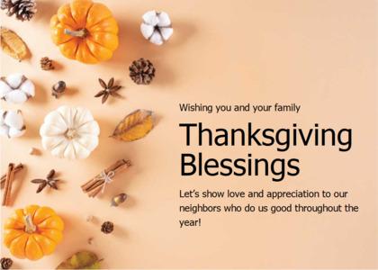 thanksgiving card 14 plant pumpkin