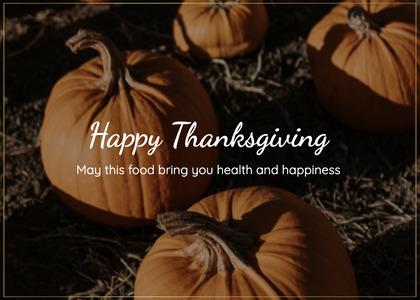thanksgiving card 141 plant pumpkin