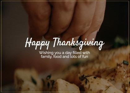 thanksgiving card 142 person human