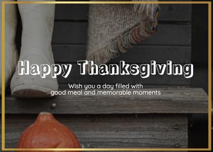 thanksgiving card 143 plant vegetable