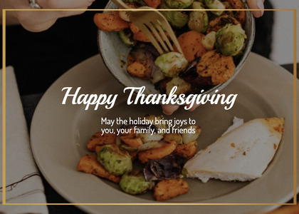 thanksgiving card 144 food bowl