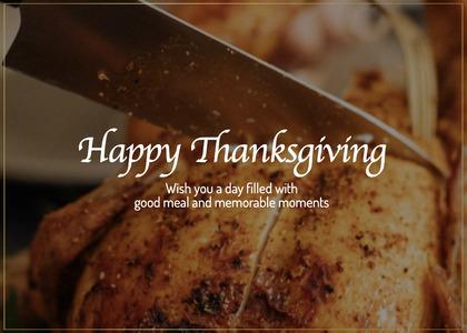 thanksgiving card 147 food roast