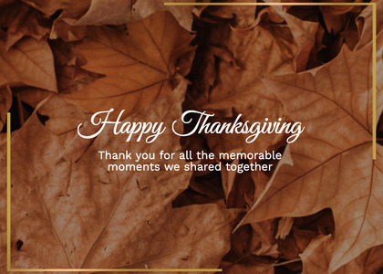 thanksgiving card 150 leaf plant