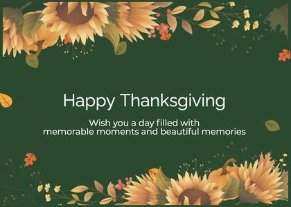 thanksgiving card 155 poster advertisement
