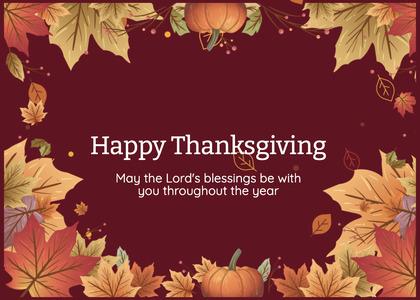 thanksgiving card 156 poster advertisement