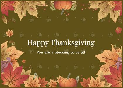 thanksgiving card 157 envelope mail