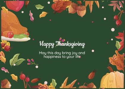 thanksgiving card 158 envelope mail