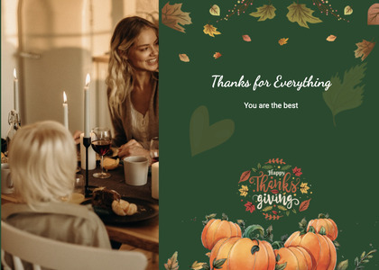 thanksgiving card 16 person poster