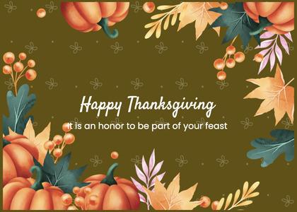 thanksgiving card 161 envelope mail