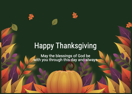 thanksgiving card 162 halloween plant