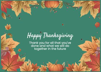 thanksgiving card 163 mail envelope