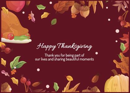 thanksgiving card 165 envelope mail