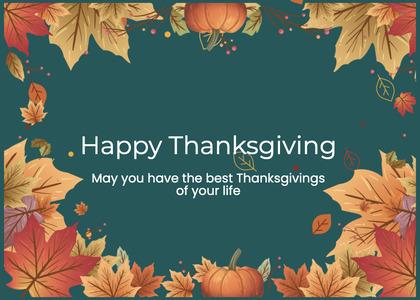 thanksgiving card 167 plant pumpkin