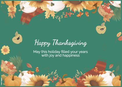 thanksgiving card 168 envelope mail