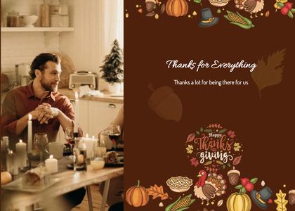 thanksgiving card 17 person human