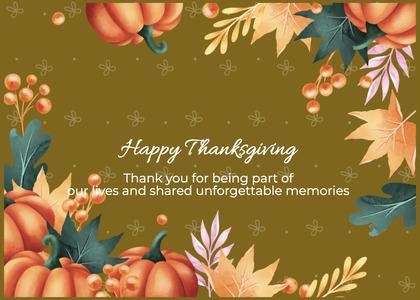 thanksgiving card 170 envelope mail