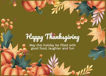 thanksgiving card 171 envelope person