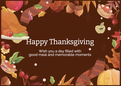 thanksgiving card 176 advertisement poster