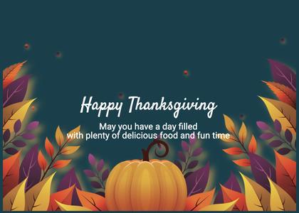 thanksgiving card 177 plant pumpkin