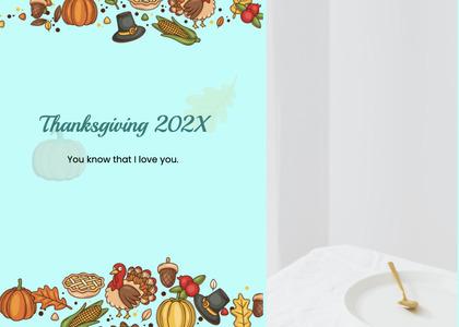 thanksgiving card 178 flyer advertisement
