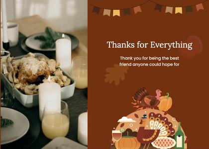 thanksgiving card 18 poster advertisement