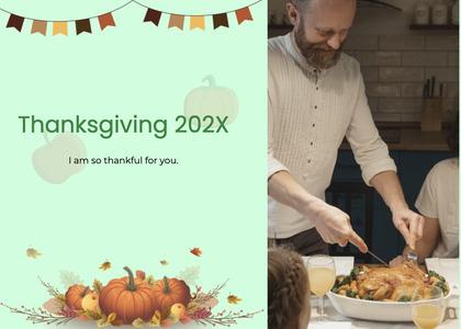 thanksgiving card 183 person human