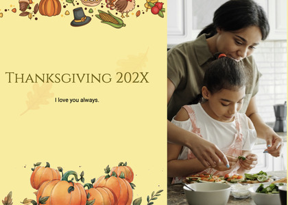 thanksgiving card 184 person human