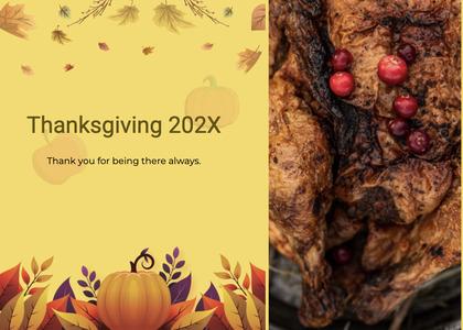thanksgiving card 185 plant food