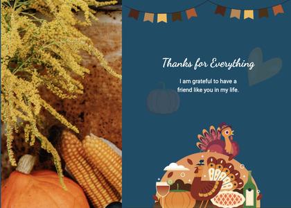 thanksgiving card 19 plant corn