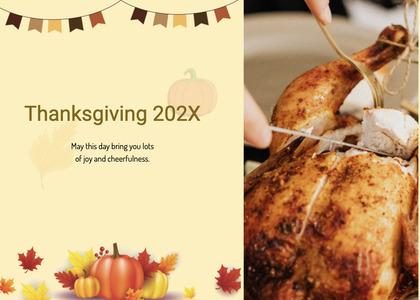 thanksgiving card 191 dinner food