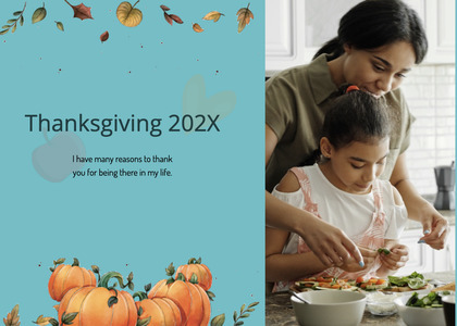 thanksgiving card 193 person human