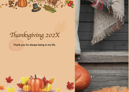 thanksgiving card 195 plant menu