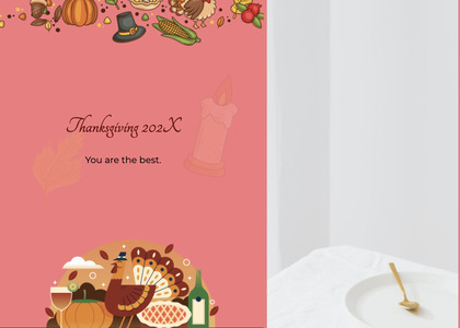 thanksgiving card 198 mail envelope